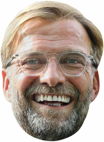 Football-KLOPP avec des yeux Trous Jürgen-Masque De Haute Qualité Brillance carton