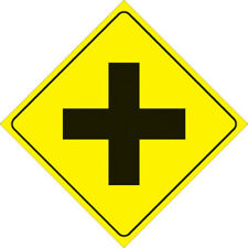 """Voss Signs 410 CA YR  Yellow Plastic Reflective Sign12/"""" Caution Ahead"""