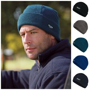 Mens 4.3 TOG Insulated Thermal Chunky Knit Beanie Ski Hat Wooly Winter Warm Hats