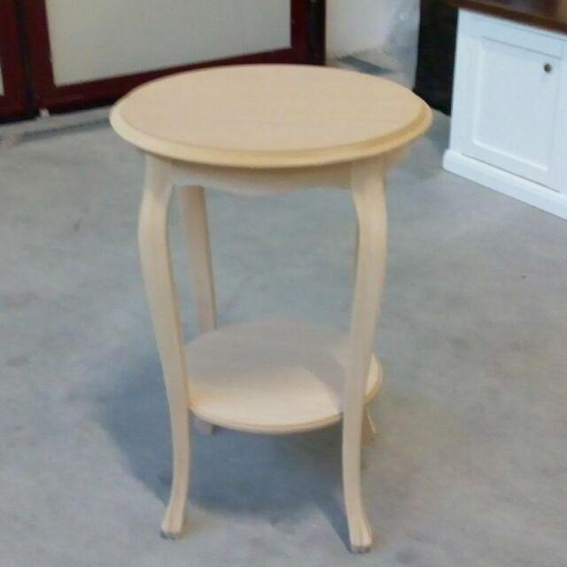 Tavolino Rotondo Alto Salotto In Legno Grezzo Da Verniciare Ebay