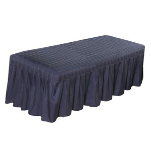 Gray Massage Table Skirt Facial Salon Spa Tattoo Bed Valance Sheet Cover 73x28/""