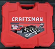 New Craftsman 105 Pc Saemetric Gunmetal Chrome Mechanics Tool Set Cmmt45304