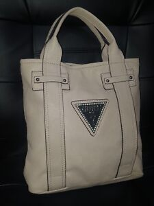 Details about Guess Shopper Tote Beige Rose H 11