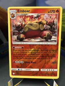 Emboar Pokemon Cosmic Eclipse TCG 33/236 Rare Reverse Holo