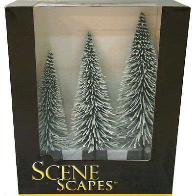 """Bachmann All Scale (most used in O) 32202 - 8"""" - 10"""" Pine Trees with Snow"""