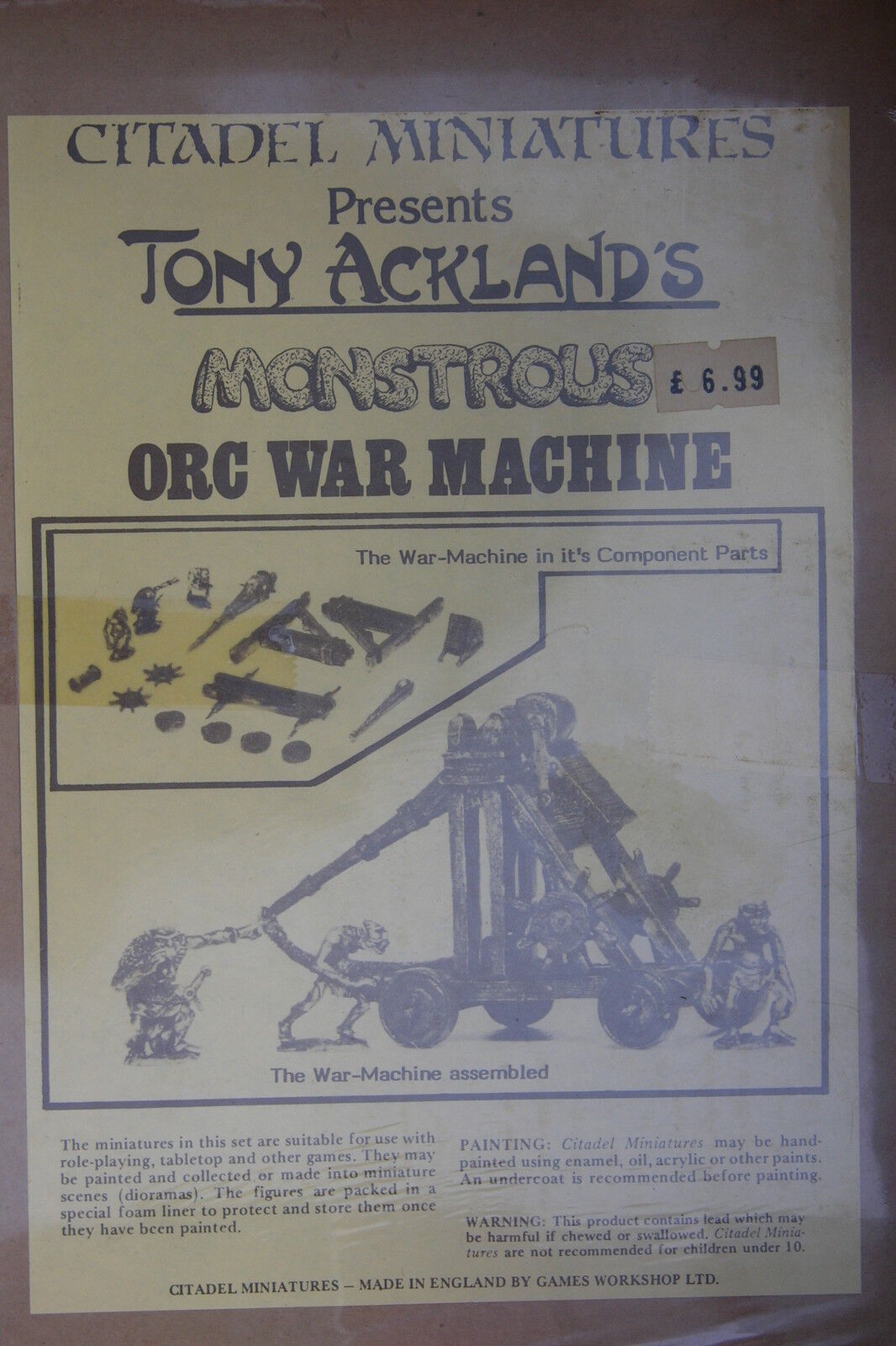Ciudadela Tony Ackland de monstruoso, Orco máquina de guerra, BNIB