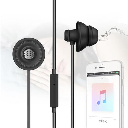 3.5mm Auricular con micrófono de silicona sueño anti-ruido In-Ear auriculares auriculares auriculares