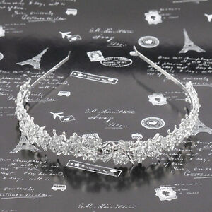 Wedding-Crystal-Flower-Headband-Hairband-Bride-Bridesmaid-Bridal-Prom-Tiara-w