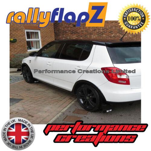 2013+ Mudflaps Black 4 mm PVC RallyflapZ Skoda Fabia mk2 Monte Carlo Hatchback