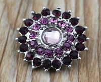 DIY 3D Rhinestone Drill Snaps Chunk Charm Button Fit For  Leather Bracelets B1