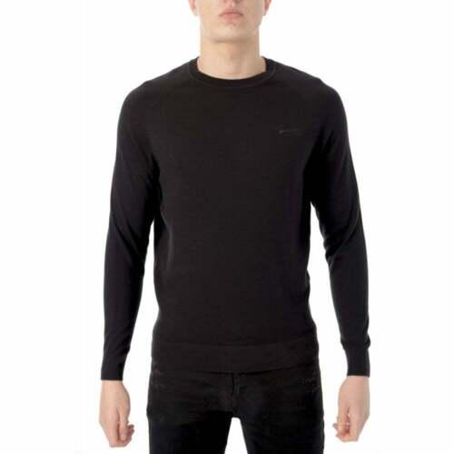 Homme Superdry Orange Label Ras-du-cou en coton tricot bleu