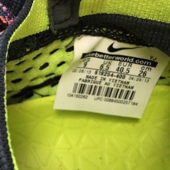 NIKE Women's Women's Women's Size 9 Free Hyper Feel Running shoes Neon orange Dark bluee Mesh ef0f91