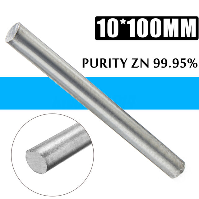 High Purity Zn 99.95/% Zinc Rods Solid Round Bar 16x300mm Anode Electroplating