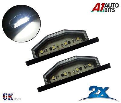 2 x LED Kennzeichenbeleuchtung 12V 24V warmweiß Anhänger PKW LKW StVO-Zulassung