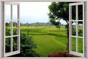 Huge-3D-Window-view-Exotic-Meadow-Field-Wall-Sticker-Mural-Art-Decal-184