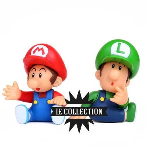 SUPER MARIO BROS bb collection pvc BABY ACTION FIGURE STATUETTA LUIGI MINI JR