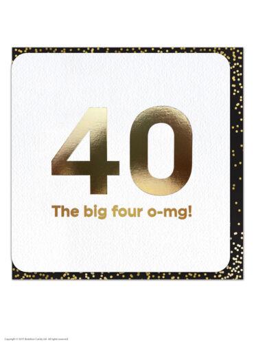 40th Birthday Age Card Funny Comedy Humour Novelty Cheeky Amusing Witty Joke