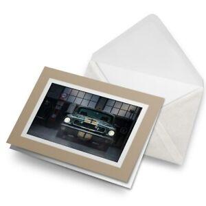 Greetings-Card-Biege-Retro-American-Muscle-Car-14662