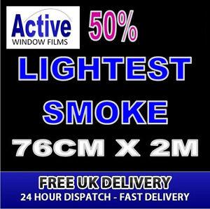 BLACK//SMOKED CAR//OFFICE WINDOW TINTING FILM STANDARD EXECUTIVE 50 99cm x 2m