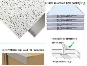 600mm x 600mm 6Tiles/Box Fancy Suspended Ceiling Tiles Vinyl