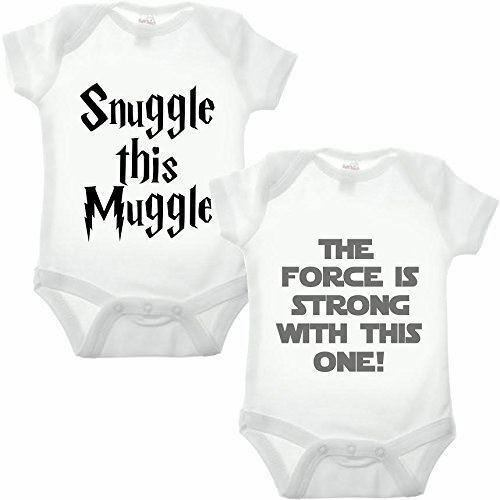 Movie Double Pack Babygrow Funny Star Wars and Harry Potter Inspired