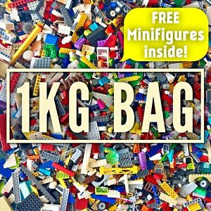 Lego-Bundle-1-kg-Mixed-Bricks-Pieces-Pieces-minifigures-accessoires-Job-Lot-Set