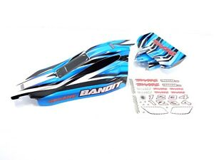 NEW-Traxxas-Bandit-Painted-Blue-Black-White-Body-with-Wing-amp-Decals-XL-5-VXL