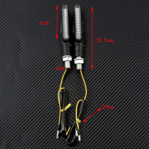 2pcs Motorcycle Flowing Bike LED Amber Turn Signal Light Indicator Blinker Lamp