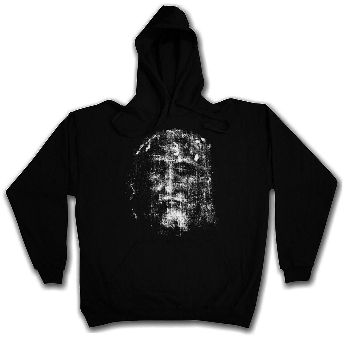 SHROUD OF TURIN HOODED SWEATSHIRT HOODIE - Holy Jesus Christus Christ INRI Cloth