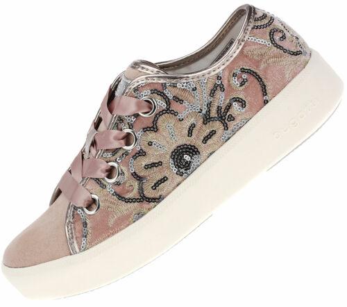 Bugatti Damen Sneaker Schnürschuhe Freizeitschuhe 40706 Rosa
