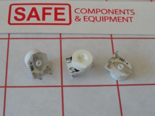 Bourns 3319P-1-502 Carbon Trimmer Pot QTY-4 5KΩ 0.2W 200V Top Adj 1-Turn MM-480