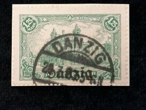 Deutsches-Reich-Freie-Stadt-Danzig-1920-MiNr-9-Repraesentative-Darstellungen