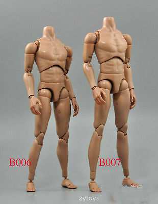 1//6 ZY-toy B007 Male Action  man Figure Body Narrow Shoulder  Collection Doll