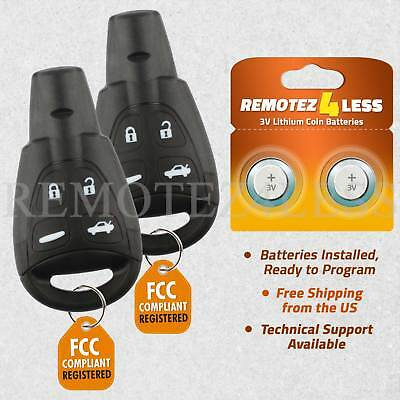 FINDAUTO 2 X Replacement Keyless Entry Smart Remote Control Key Fob SAABSAAB 9-3 9-5 9-3 9-5 03 04 05 06 07 08 09 LTQSAAM433TX