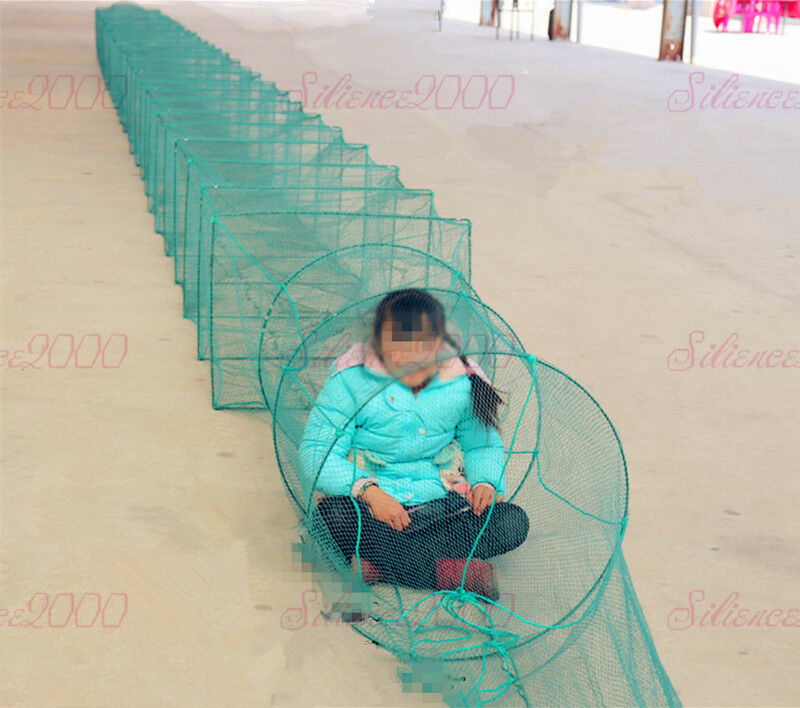 Large Size Fish Cage Portable Foldable  Trap Cast Net Heavy Duty Fishing Nets  low price