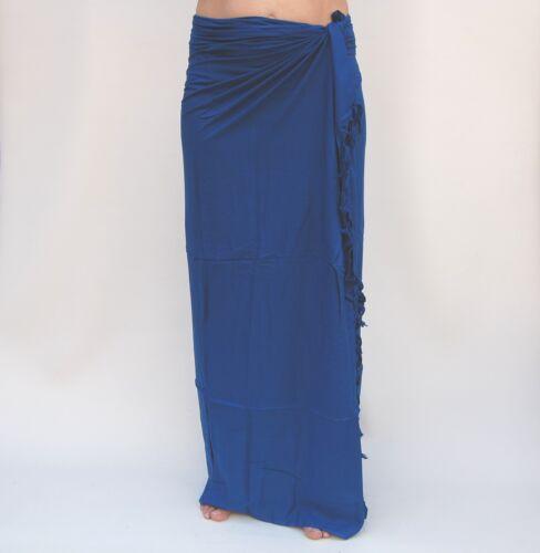 Sarong (SAU600P) unifarben Premium Qualität Pareo Tücher Wickeltuch Sari Sarongs