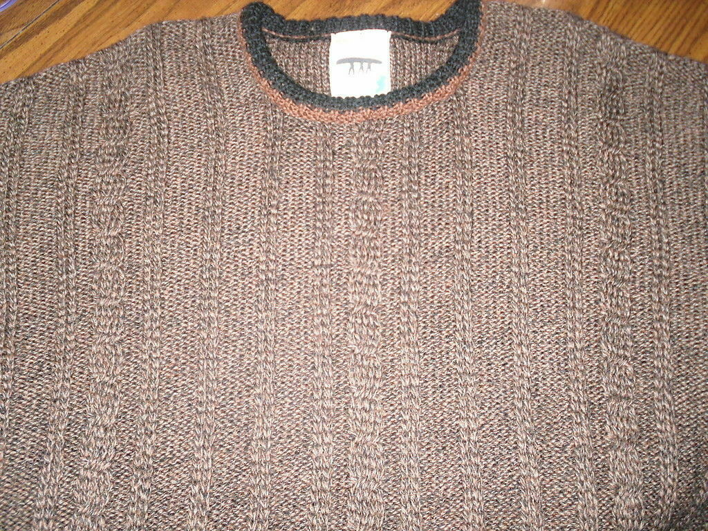 Inis Meain Fishermans Sweater M Medium 100% Wool … - image 1