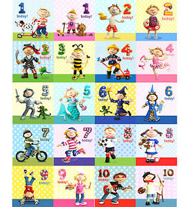 kids child happy birthday cards ages 1st 2nd 3rd 4th 5th 6th 7th
