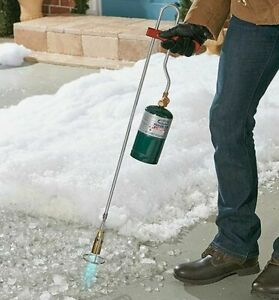 Weed Burner Torch Propane Ice Snow Removal Driveway