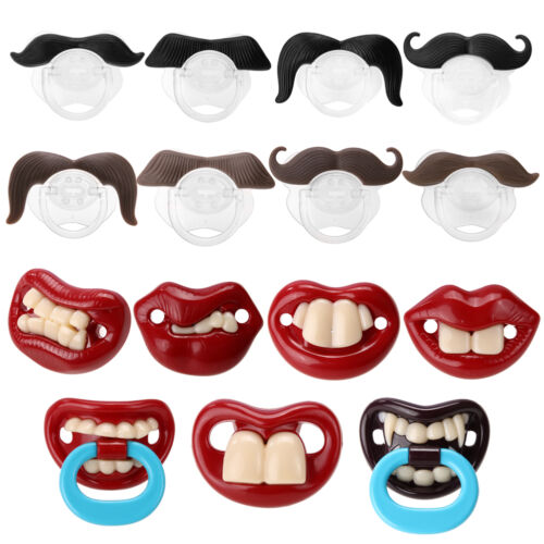 Hot New Funny Black Silicone Infant Baby Pacifier Nipples Dummy Mustache Beard