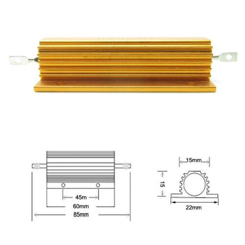 High Power 50 Ohm 50R 100W Watt Aluminum Shell Case Wirewound Golden Resistor