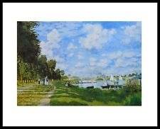 Claude Monet Argenteuil Poster Kunstdruck Bild mit Alu Rahmen in schwarz 24x30cm