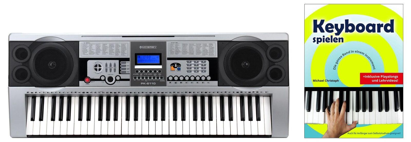 Digital 61 Tasten Keyboard Keyboardschule 100 Sounds & Rhythmen Lernfunktion