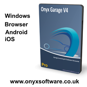 Onyx Garage Invoice Software Pro Excluding Car Sales Single User - Garage invoice software