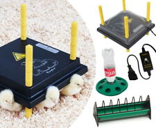 Küken-Aufzucht-Set: Wärmeplatte 25x25cm +Schutzhaube +Regler +Tränke +Futtertrog
