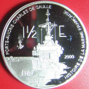2004-REUNION-1-1-2-EURO-SILVER-PROOF-ESSAI-DE-GAULLE-WARSHIP-AIRCRAFT-CARRIER-RR
