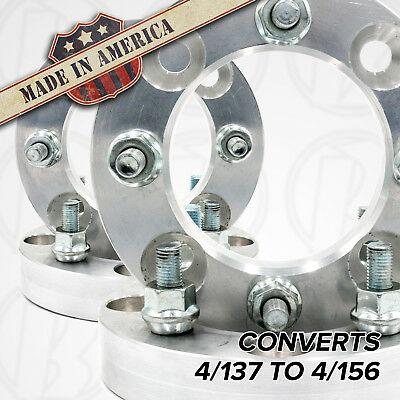 """2 pc 4x137 to 4x156 Wheel Adapters//Spacers 2/"""" Thick for Kawasaki /& Can-Am ATV"""