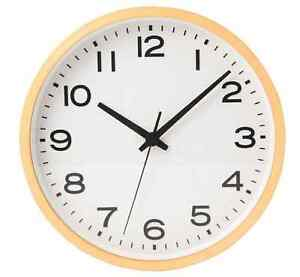 New-MUJI-Wall-Clock-Plain-Beechwood-Natural-Large-Analog-Clock-Quarts-F-S-Japan
