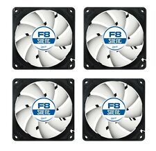 4 x Pack of Arctic F8 Silent, 80mm 8cm PC Case Fan, High Performance 6 Year Warr