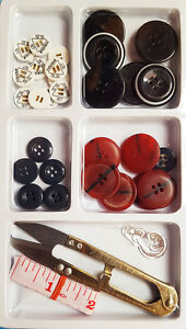 New-Large-Assorted-Buttons-Sewing-Kit-Measuring-Tape-Scissor-Snips-Thread-Cutter